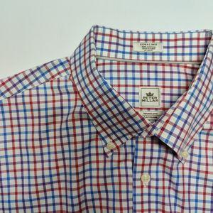 Peter Millar Short Sleeve Button Down Men's XL